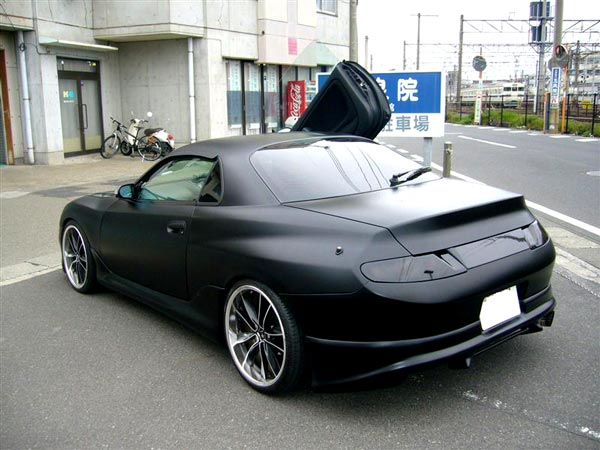 Tags: 1994 Mitsubishi FTO in matte black