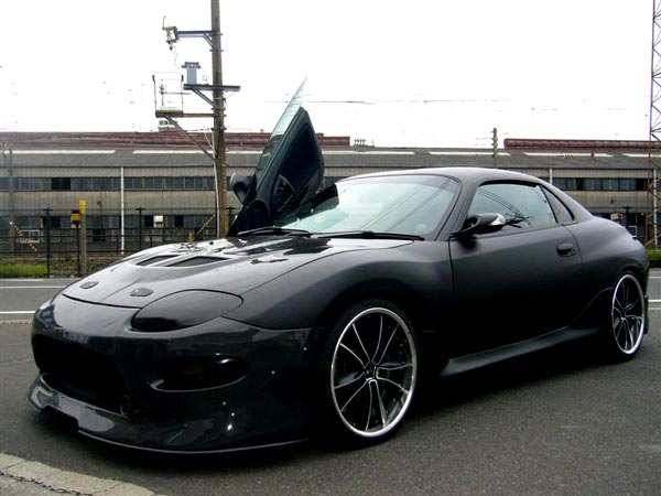 1994 Mitsubishi FTO in matte black